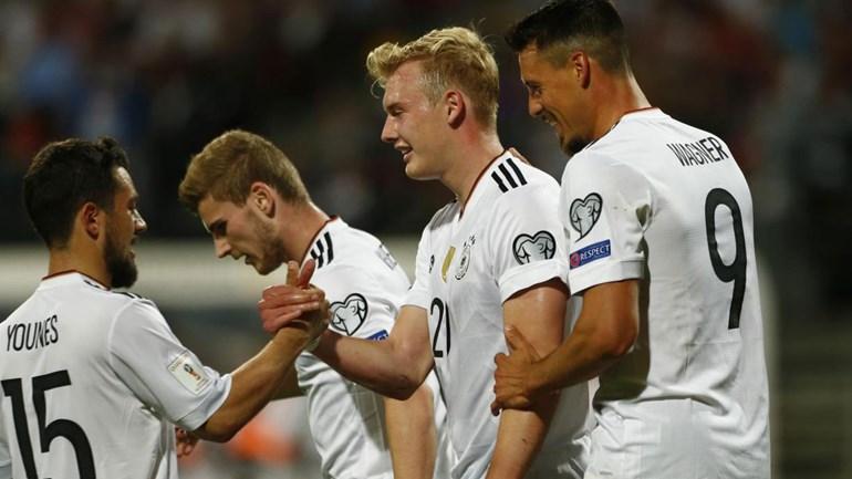 Grupo C: Alemanha 'cilindra' São Marino