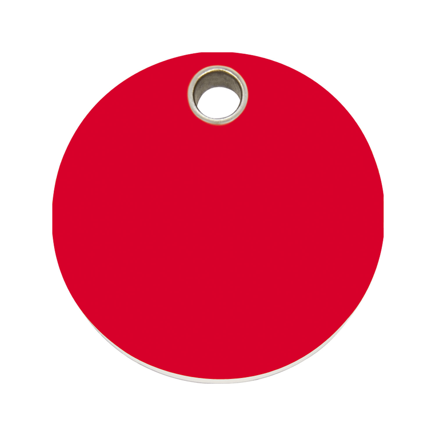 Red Dingo Plastic Tag Circle Red 04 Cl Re 4clrs 4clrm