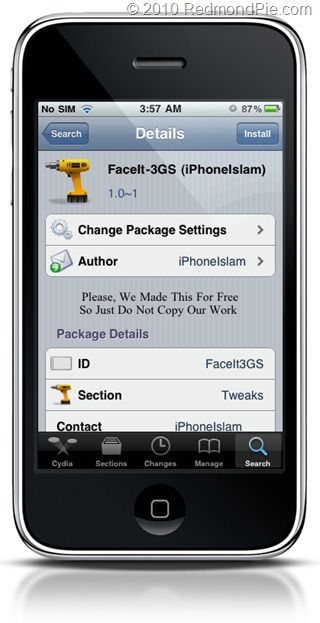 Enable FaceTime On IPhone 3GS With FaceIt 3GS Redmond Pie