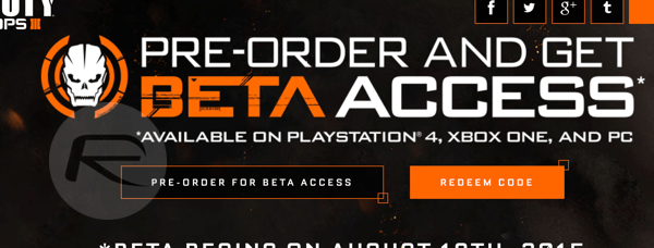 Sign Up For Call Of Duty Black Ops 3 Beta On PS4 Xbox
