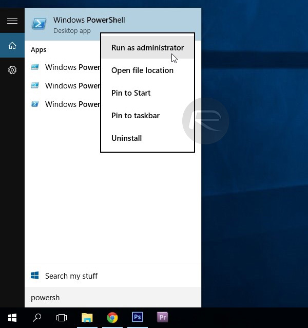 Launch-Windows-10-elevated-PowerShell