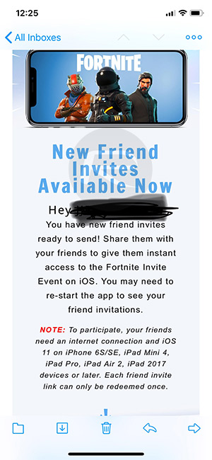Fortnite Mobile Friend Codes / Invites On iOS Now ...