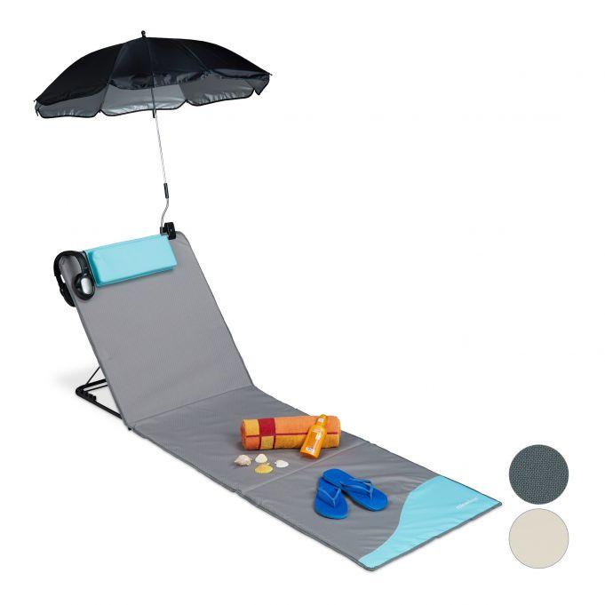 matelas de plage avec parasol a acheter