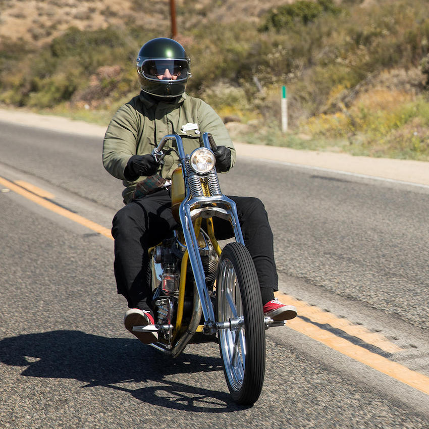 Biltwell Gringo S Helmet Rider on a chopper