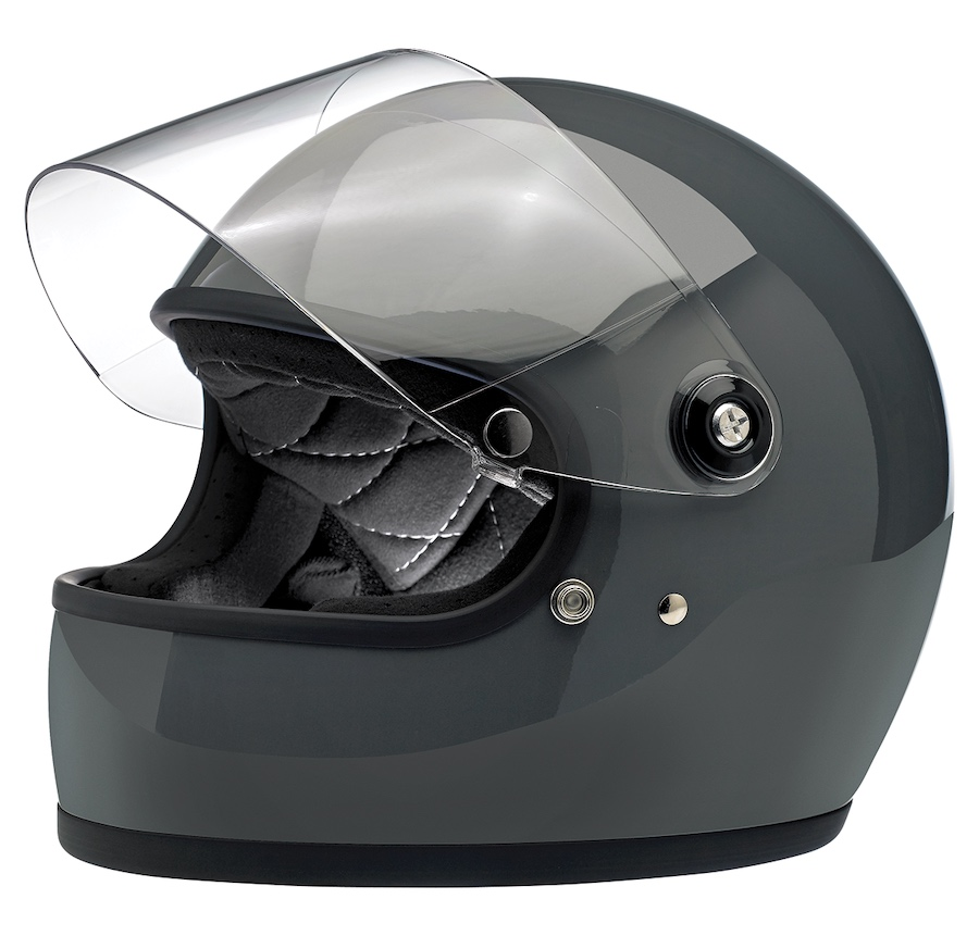 Biltwell Gringo S - ECE Approved Helmet Grey Gloss
