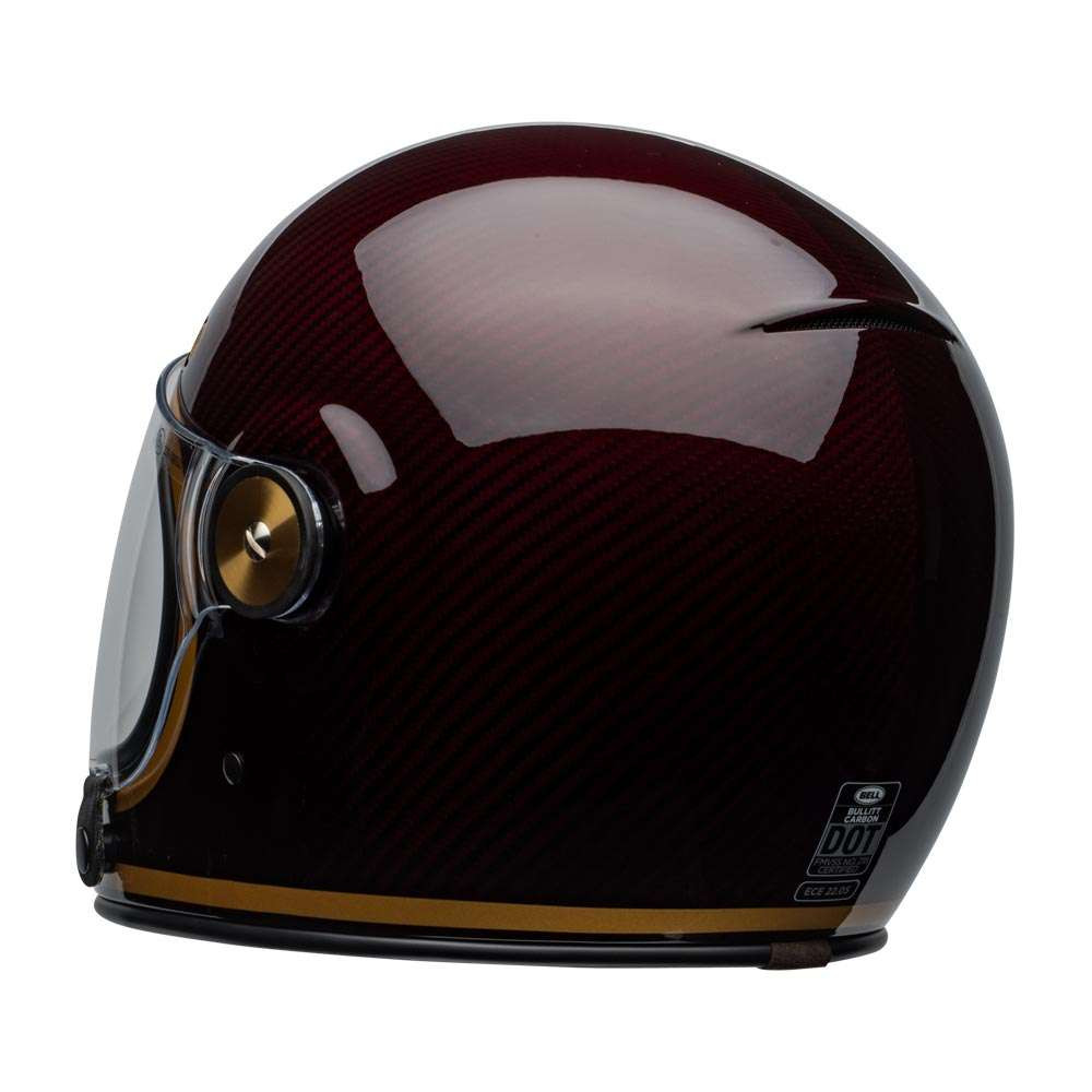 Bullitt Carbon Helmet Transcend Gloss Candy Red Gold [clear-shield-back-left]