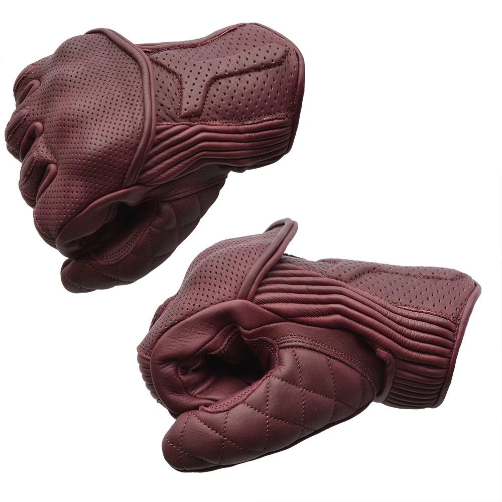 show original title Details about  /Chiba Retro Crochet Gloves Leather Retro Brown Beige Gloves Racing Bike Vintage