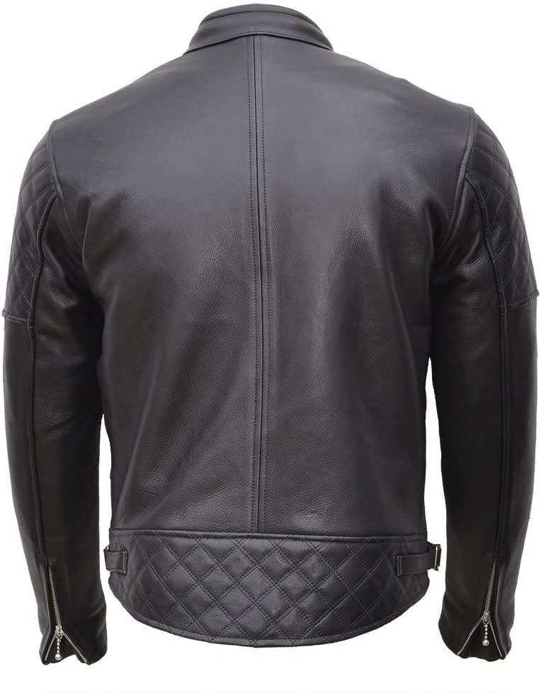 Goldtop England Black Leather Jacket back