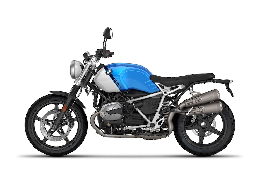2021 BMW R nineT Scrambler Option 719 Cosmic blue metallic:Light white uni