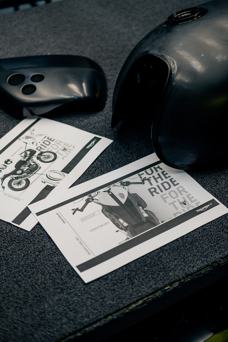Designs for the custom Thruxton RS