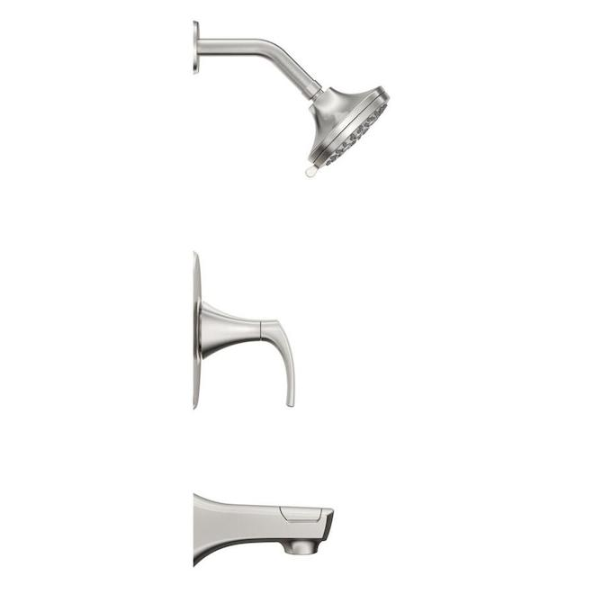 karci 1 handle tub and shower faucet brushed nickel