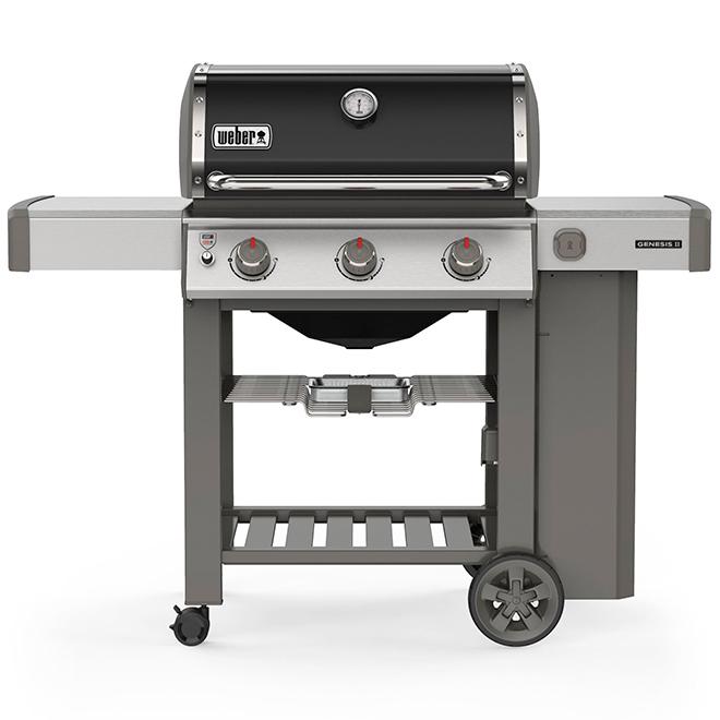 barbecue au gaz propane genesis e 310 39 000 btu noir