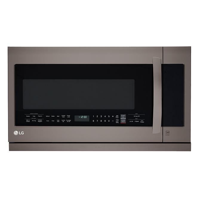 lg over the range microwave oven 2 2 cu ft black stainless lmv2257bd reno depot
