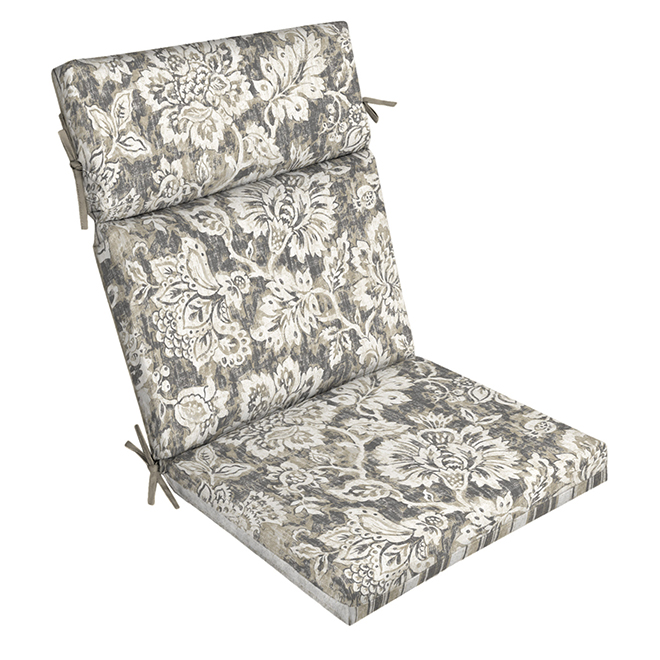 style selections reversible high back chair cushion 4 5 in thick floral