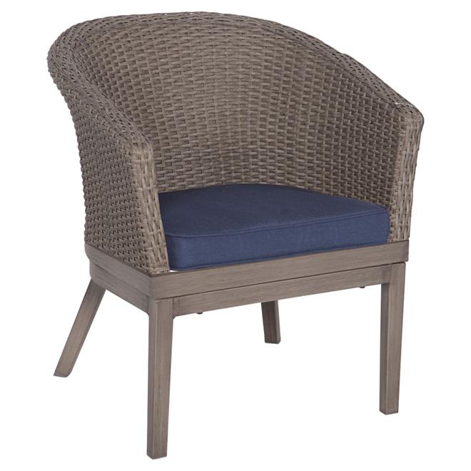 allen roth dalton patio chair brown navy blue 2 pk