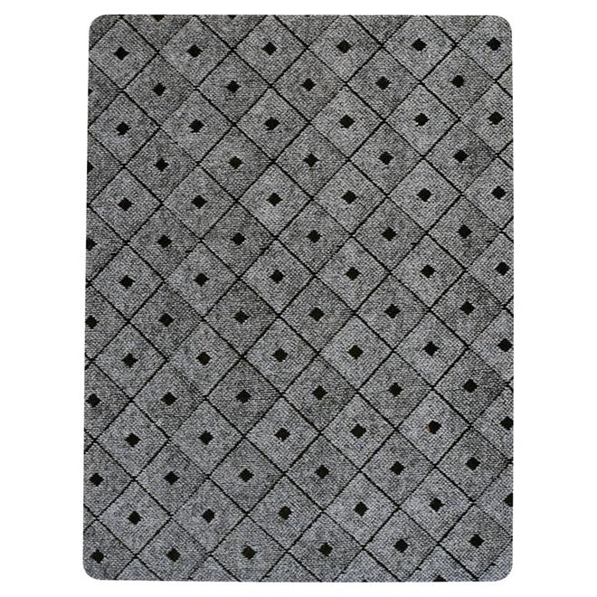 tapis utilitaire en caoutchouc 3 x 4 gris