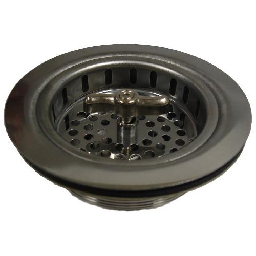 sink strainer basket twist n loc stainless steel