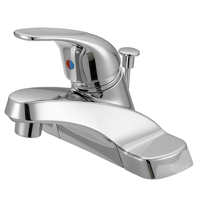 bathroom faucet 1 lever handle 4 centre set chrome