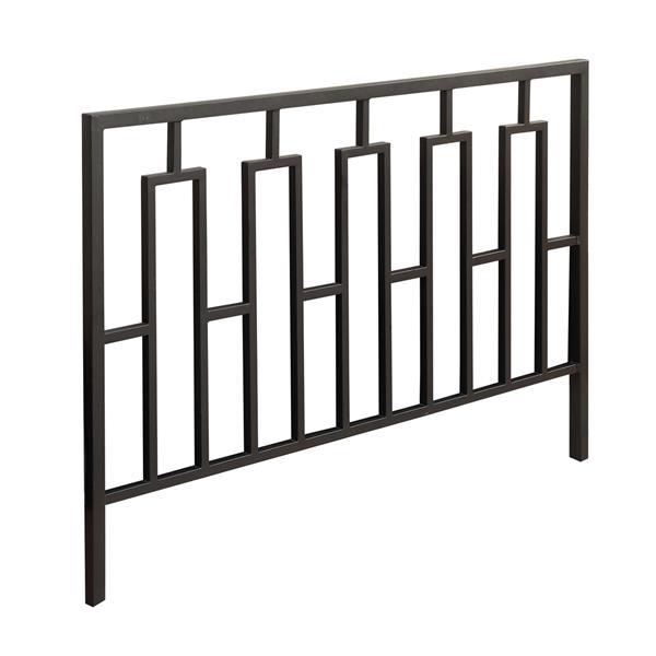 tete de lit monarch metal noir double ou grand lit