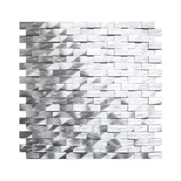 eden mosaic tiles 3d raised brick pattern aluminum mosaic tile 8 pack