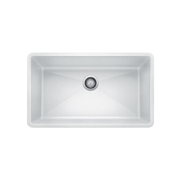 blanco precis single undermount sink white
