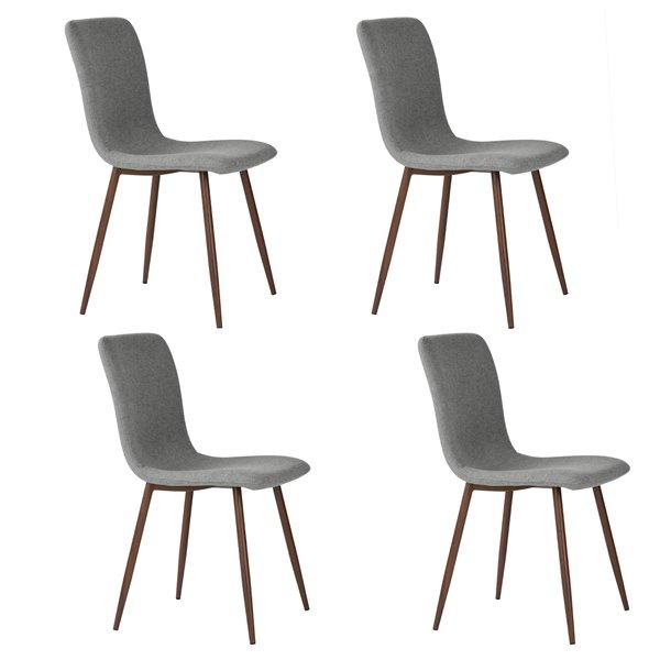 Furniturer Dining Chair Set Of 4 Grey 0500029073261 Reno Depot