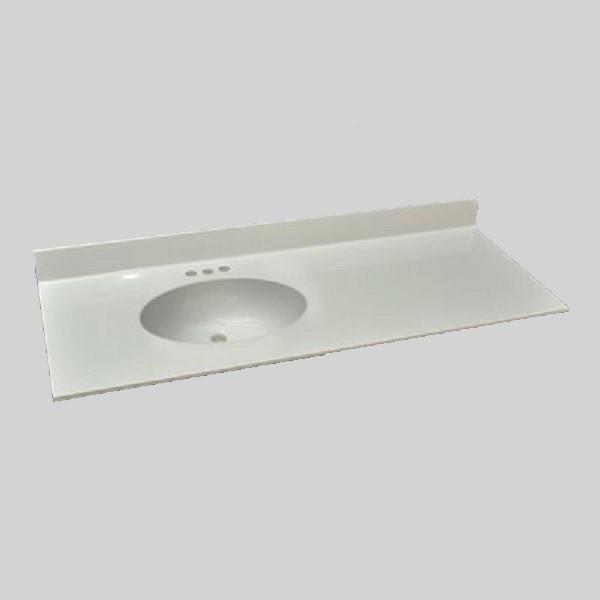 the marble factory bathroom vanity top left hand sink 49 in x 22 in white engineered marble