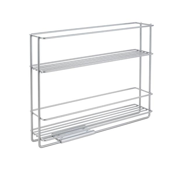 etagere porte epices coulissante in and out de metaltex gris