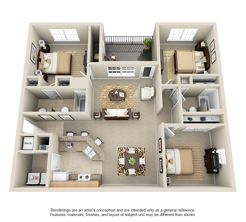 one, two and three bedroom apartments in louisville, ky