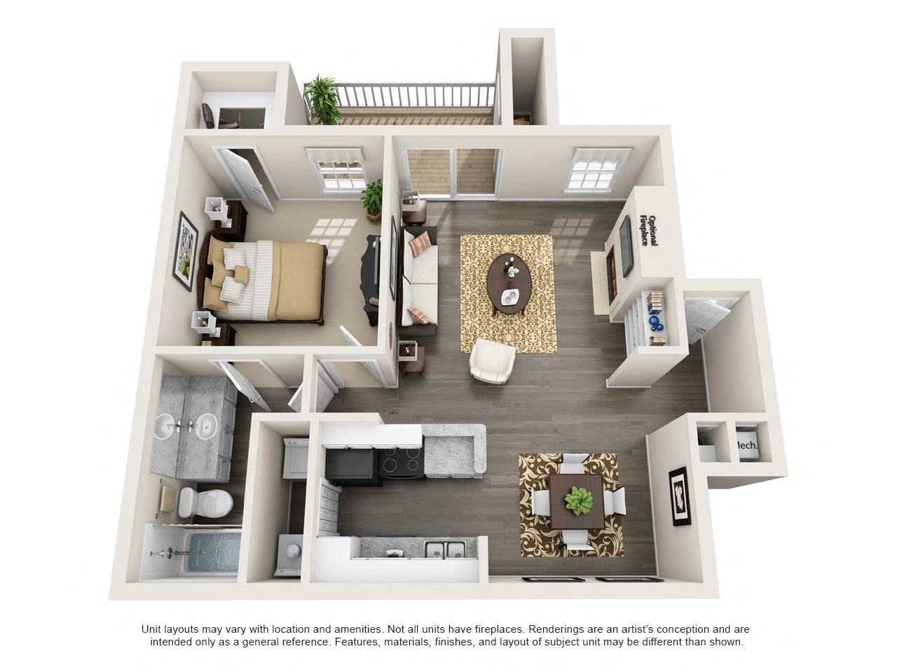 1 and 2 Bedroom Apartments for Rent   The Arbors at Brookfield The Arbors at Brookfield Oaks 1 bd