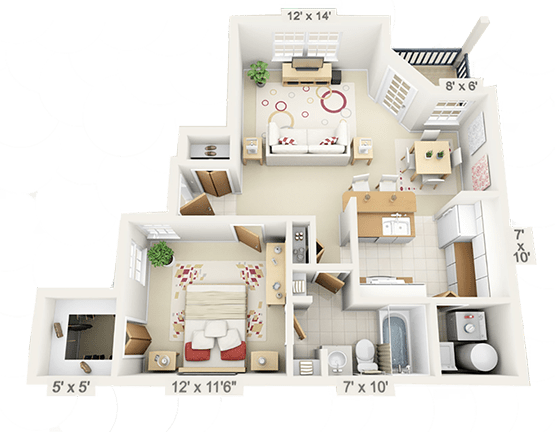 Furnished Apartment Floor Plans Spyglass