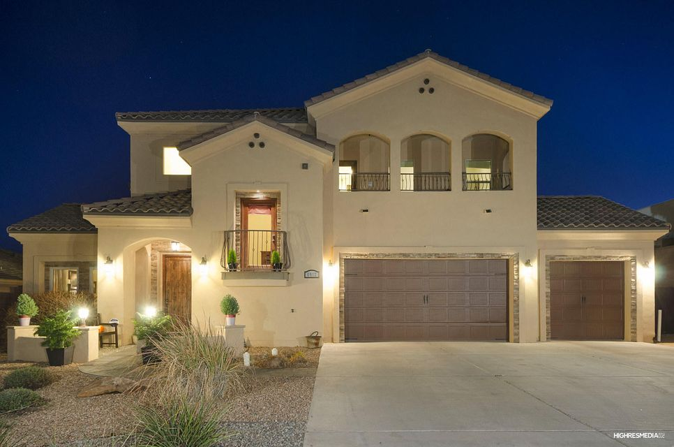 Stunning custom home built with every detail in mind. This masterpiece includes a full landscaped .5 acre lot with unobstructed mountain views, large heated pool, 2 balconies, private patio off the dining room, and a bonus garage/workspace with electric in the back yard. The interior of this spectacular home features a formal living room, dining room, open concept kitchen/family room, butler's pantry with separate fridge, gourmet eat-in kitchen, home theater, In-Law Suite with separate entrance, a spacious master suite with a fire place, spa like master bath, huge his and hers closets, a great loft with custom built-ins, and a large office with custom built-ins. The home is wired for home automation and has been inspected, and all repairs completed! All you have to do is move in!