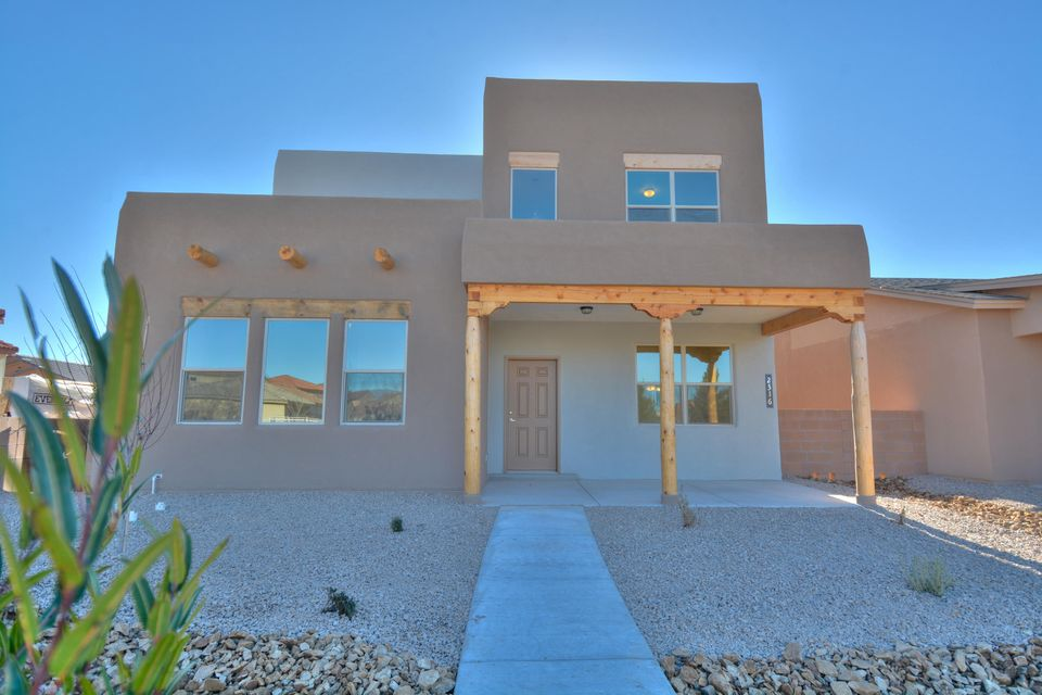 Brand new Twilight Home in the popular Mesa de Sol Community. Featuring 1,934 sf with 3 bedrooms and 2.5 bathrooms. Large kitchen with upgraded espresso cabinetry and granite countertops. Appliances to be installed upon closing. Spacious master suite with bath. Bath features oversized vanity and a shower with tile surround. Huge walk-in closet with built-ins!  Live in Albuquerque's most unique community. Minutes from downtown, uptown, UNM and so much more. Enjoy the community events, pool, park and 1-acre dog park.