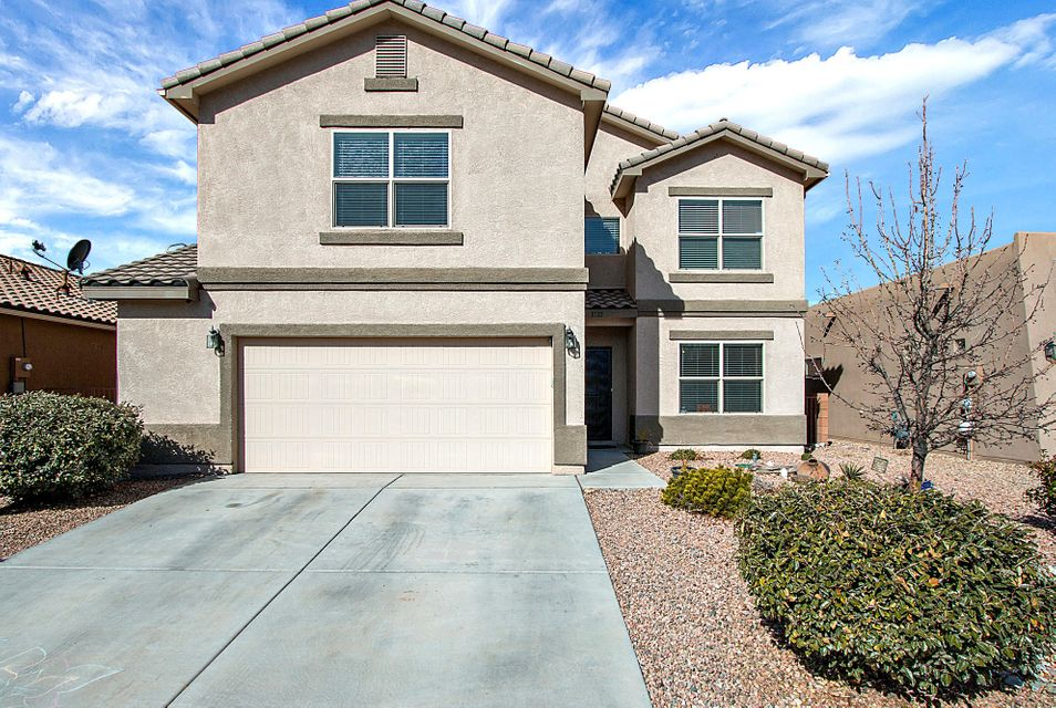 This stunning DR Horton popular ''Sacramento'' Floor Plan offers views of the Sandia Mountains from all over the 2nd Floor.  2 Living Spaces, plus a loft! Huge Master Bedroom, Security System, Fully Landscaped - Welcome Home, this one is move in ready!