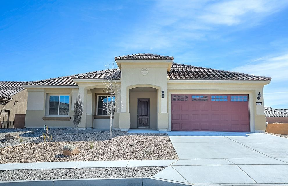 OPEN FOR SHOWINGS TODAY! Invest in yourself by growing socially and physically in a Del Webb community. The Sandia Amenity Center offers a fitness center, sports courts, swimming pool with beach entry, lap lanes & volleyball court, billiards and movement room, heated spa with kiva fireplace & so much more! Our full-time Lifestyle Director coordinates regular social events, clubs, classes & outings. This brand new, never lived in home offers new appliances, carpet, tank-less water heater, roof, windows - everything! This Pursuit home design is finished with a den/home office, arch openings, cafe with bay window & laundry room with cabinets & sink. The kitchen offers granite countertops, built-in stainless appliances, large island with pendant lights & a walk-in pantry. Move-in ready!