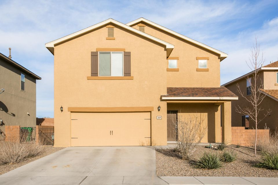 Located in the welcoming Camino Crossing community and within the renowned Rio Rancho School District.  This beautiful home was built only three years ago and has been painstakingly cared for.  It is one of the few in Camino Crossing without neighbors to the back.  The home offers a bright and open floor plan with four bedrooms, walk-in closets, granite countertops, and custom upgrades.  Spacious lot with covered patios and landscaped front yard.  Welcome home!