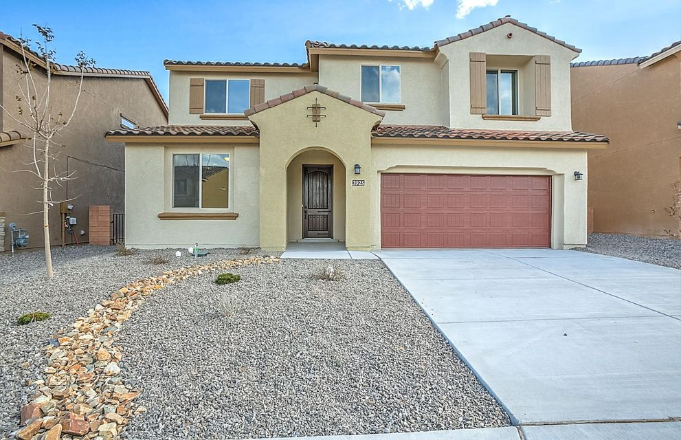 OPEN FOR SHOWINGS TODAY. When you purchase a brand new Pulte home, you'll enjoy new appliances, flooring, windows, A/C, roof, tank-less water heater & more! In the kitchen you'll find granite counters, staggered cabinets & built-in stainless gas appliances. The gathering room with soaring ceilings is also finished with a corner fireplace & wood tile flooring. The luxurious owner's bath includes a tub & shower with tile, dual sinks with granite & walk-in closet. Enjoy the outdoors on the covered patio or off the deck off the owner's suite with stunning mountain views. This home also includes a den, cafe, Pulte Planning Center(r) & 2 secondary bedrooms. Save on utilities with energy efficient features. Lomas Encantadas offers a short commute to Albuquerque or Santa Fe.
