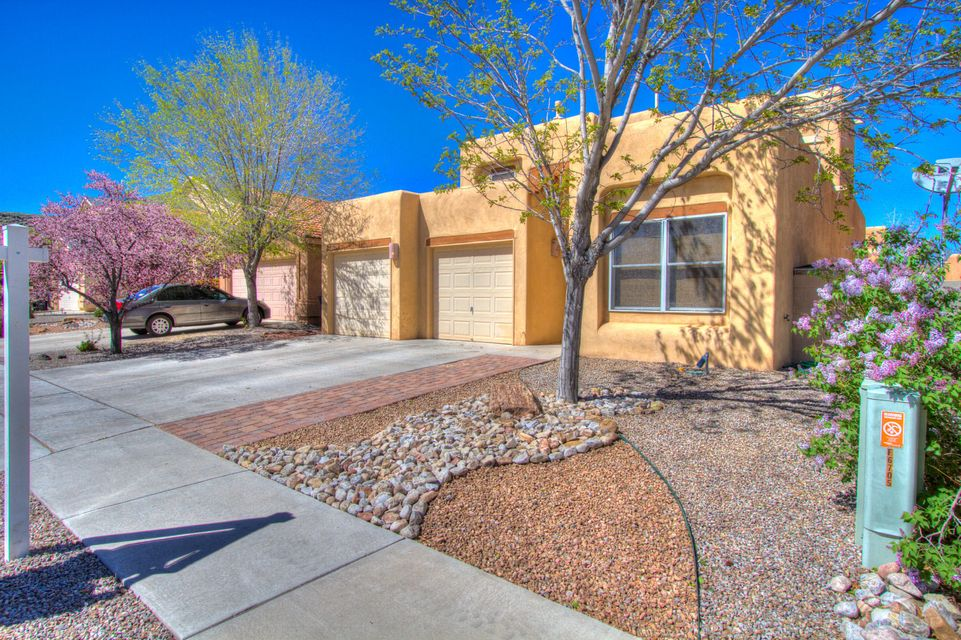 Great home open floor plan. Custom kiva fireplace one inside one outside. Master suite is down with spacious bath and walk in closet. Up stairs enjoy 2 bedrooms and an office loft. Outside has built in B-B-Q for summer fun Kiva fireplace for chilly spring evenings. This home is a must see.