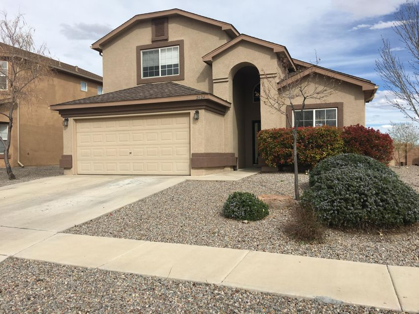 Quiet gated community home.  This home offers spectacular views of the Monzanos and Sandias from the xeriscaped backyard. Close to schools.  Refrigerated air conditioning, Recessed Lighting and many other amenities.  Easy to show.