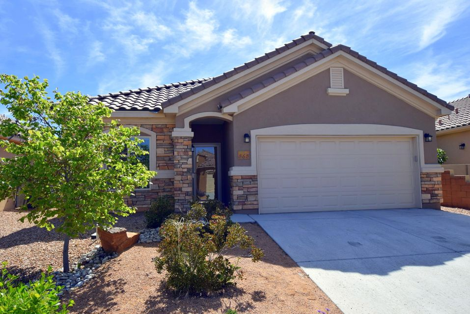 Shows like new!  Popular Laguna floor plan in NM's premier active adult community by Del Webb.  3 bedrooms with excellent closet space.  Gourmet kitchen with stunning granite counters, raised panel cabinets, stainless steel appliances, center island and walk-in pantry.  Great room boasts gas fireplace with stone surround and mantle.  Gorgeous tile floors.  Master suite offers two walk-in closets, spa bathroom with granite counters, soaking tub and oversized walk-in shower with tile accents.  Fully landscaped yard is easy maintenance with auto timed drip system.  Lovely community amenities, an abundance of activities and a full-time lifestyle director for only $150/month.  Move in and start living!