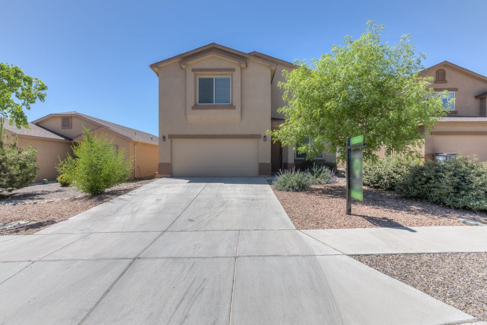 This remarkable DR Horton home is turn key and ready for new owners! With 2570 sq ft of overall interior space this home has 2 spacious guest bedrooms upstairs, all with large closets. The gigantic master is also located on the 2nd level, it has a oversized garden tub, separate walk in shower and a massive walk in closet. The multiple living areas, 2 downstairs and 1 spacious loft upstairs, make this home awesome for entertaining!!!. The entire home has fresh paint, all new interior doors and hardware. Best of all this house is located in the beautiful Rio Rancho neighborhood of Cabezon but it has NO HOA! this home is priced and will move fast so please make time to see it, you won't be disappointed!