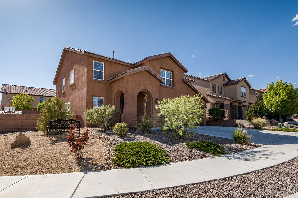 Wow This Is Your Next Home! Move In Ready, Popular Green Built - Silver Level Floor Plan W/2 Refrigerated AC's In Beautiful Loma Colorado. Large Corner Lot W/Sandia Mountain Views. Across The Street From Open Space. Everyone Will Hang Out in This Home & Enjoy Three Separate Living Spaces. Entertaining Is A Cinch! Cook's Kitchen W/Corian Counters, Stainless Appliances, Raised Panel Maple Cabinets, Pantry & Center Island For Serving & Prepping. Downstairs Bedroom W/Walk In Closet. Full Bath Down. Utility Room W/Space For Shelving. Private Master En-Suite W/Unbelievable Walk In Closet.  Large Loft Upstairs W/Large Storage Closet. Two Bedrooms & Full Bath W/2 Sinks. Step Outside To An Over Sized Covered Patio W/Gas BBQ Stub. Access To Parks, Playgrounds, Tennis Courts, Dog Park & Ball Fields