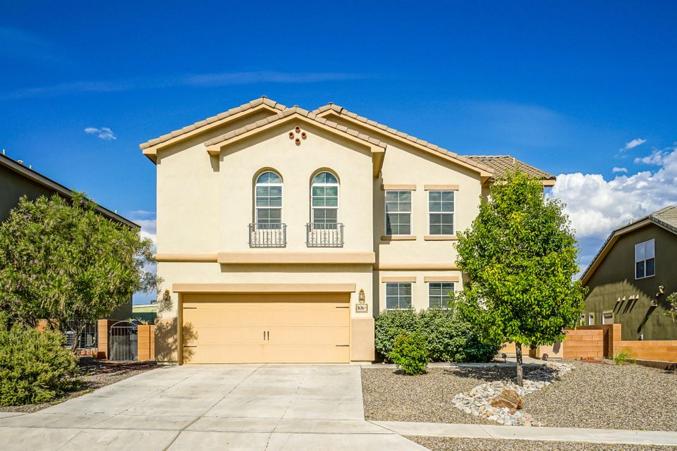 Lovely Home in the Lomas Encantadas Master Planned Community - with Mountain Views! Home has an open floor plan with lots of upgrades. Kitchen has beautiful granite counters with Island, Lots of Cabinets, Gas Cooktop with Dual ovens, breakfast nook and formal dining. Living and Family Room downstairs with an upstairs Second Living Area makes this a versatile home that is great for entertaining. Office or 5th bedroom downstairs with downstairs bathroom. All bedrooms are grand in size with walk-in closets. Huge Master Bedroom Suite with His and Her walk-in closets and possible second Master. Xeriscape landscaping in both front and back yard awaiting your own vision.  Ready to move in and  make it your own!!! Be sure to check out the 3D Tour!