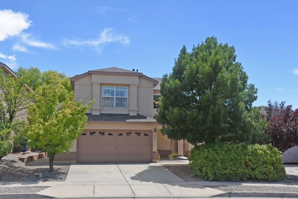 Quiet subdivision in La Cueva school district just across from the North Domingo Baca Park and community center. Enjoy the open space just behind the property.  Great location with shopping, restaurants and quick access to I-25.New carpet , new roof w/ 10 year warranty,  new stucco 2015, new evaporative cooler in 2010, water heater 2012, new Bosch dishwasher. Back yard is a lovely green oasis great for those summer bar b-q's!