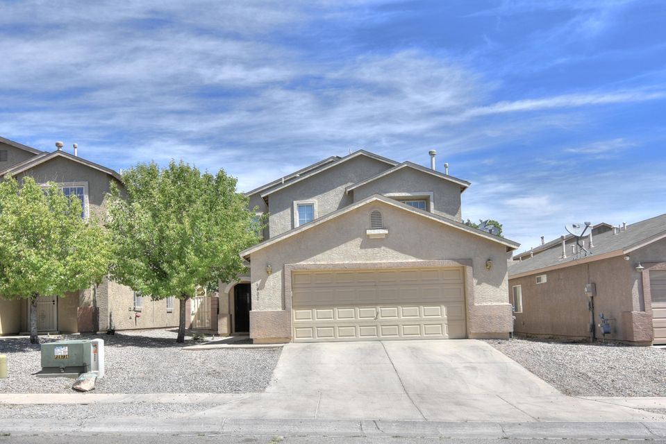 Welcome to this FRESHLY PAINTED 5 bedroom home with an open  floor plan with two living rooms. kitchen is great for entertainment. Home offers huge master bedroom with double sinks and walk in closet. REFRIGERATED AIR! SOLAR PANELS.  Enjoy the low maintenance backyard.