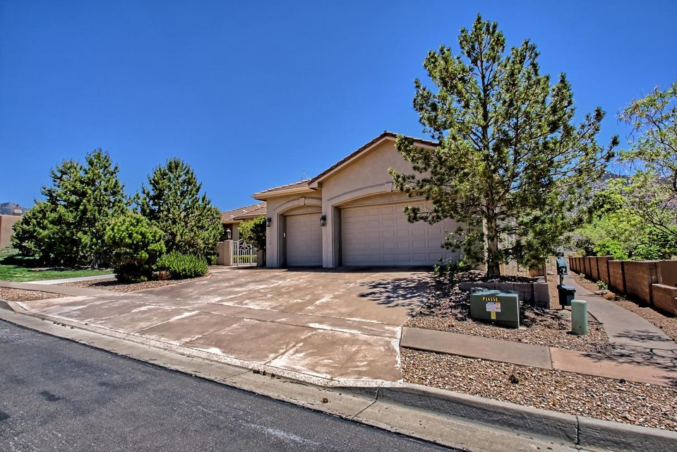 As you walk into the foyer, enjoy the marvelous views in this beautiful single story Rutledge home backing to the open space! The home has everything you can imagine. Kitchen has sub-zero refrigerator, ice maker, 6 burner gas cook top, granite counter tops, large walk-in pantry, custom Halbert cabinets and much more.  The master bedroom has a sitting room, built-in bookshelves and a gas fireplace.  The master bath has two walk-in closets, two water closets one with a bidet, jetted tub, refrigerator and double vanities. Enjoy the second bedroom and third bedroom/study both with an on-suite baths. The family room has a built-in wet bar. As you go out on the back patio enjoy the fish pond, built-in BBQ and expansive views of the open space/mountains.