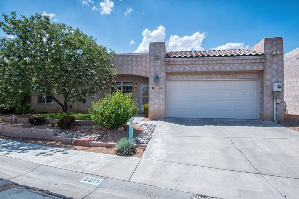 Can you say immaculate? This lovingly taken care of home will be a buyer's dream come true.3 great sized bedrooms and 1 3/4 baths. Located in a gated community close to shopping and Paseo del Norte. Beautiful granite in kitchen and updated kitchen cabinets. Super open floor plan. Backyard is an oasis for privacy and so quiet. You have 2 fountains one in front and back. Refrigerated air. Wonderful plant ledges. Natural light throughout with skylights. More pictures coming on Wednesday 5/23.