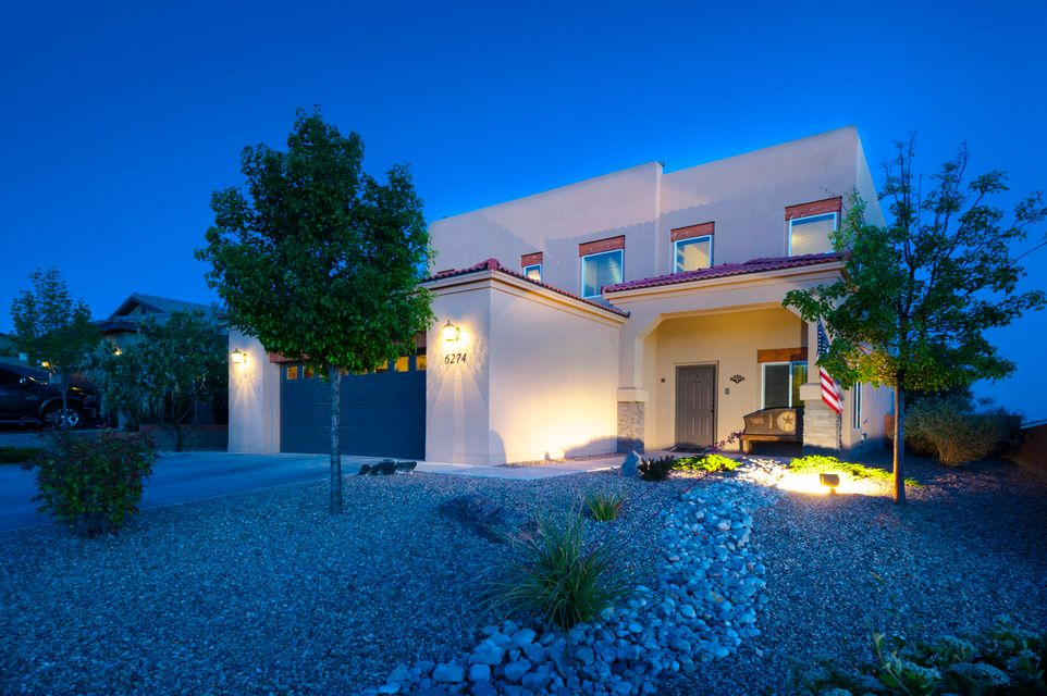 This former RayLee model home will not disappoint! Large open floor plan located in the growing NW side of Albuquerque! Home features, tile floors, tile countertops, bullnose corners, stain grade wood doors, refrigerated air, two fireplaces, and much more! Walk out to a fully landscaped Low maintenance backyard, with views of the petroglyphs. Priced to sell and ready for a new owner!