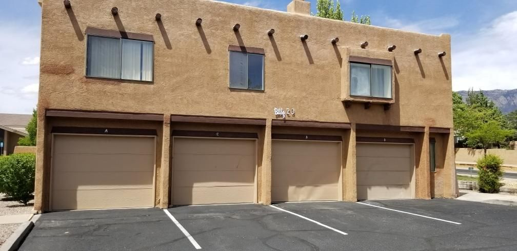 Come take a look! This Spacious loft-style condo in fantastic NE Heights Neighborhood. Home needs updates however great features.  All living areas and bedrooms on one level. Garage and entry below. Open and efficient floor plan includes a large master suite with a large closet, enclosed washer/dryer area, huge living room balcony. Private corner unit. Great neighborhood close to shopping, restaurants, schools, parks, and entertainment.