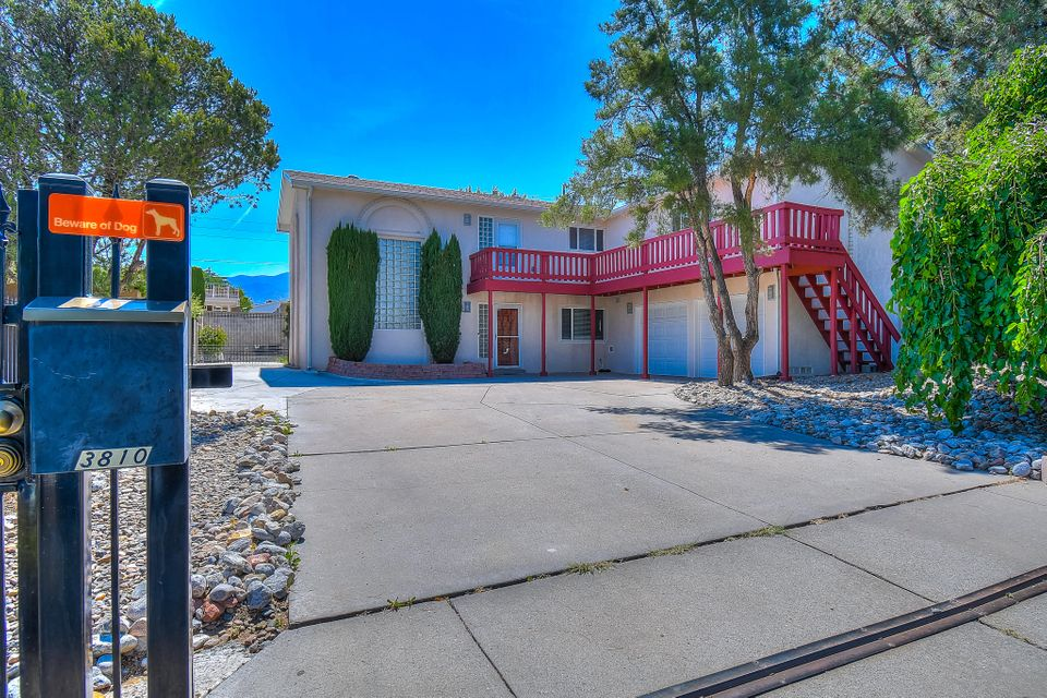 Perfect estate in beautiful NE Heights neighborhood. Completely remodeled from top to bottom in 2012, it will be like purchasing a 7yr new home. With a fence surrounding the property , and tucked away in lovely cul-de-sac you will feel the security and privacy of your new home. Side yard access allows for storage of your recreational toys in the back yard. This home boasts lovely Brazilian cherry harwood floors and tile throughout,  4 large bedrooms (one downstairs with a full bathroom just outside the doors), spacious living space with 20 foot ceilings, and unique custom touches. All brand new appliances purchased in 2018 will stay!! Schedule your showing today!! You will not be disapponted!